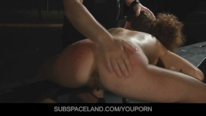 The curly-haired slave girl got an anal fucking