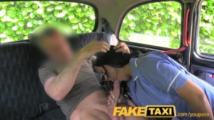 FakeTaxi Naughty nurse in cab confession