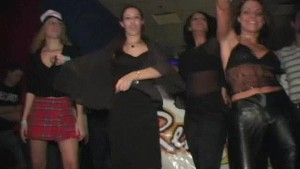 Sexy dance Contest with Girls Flashing their Tits