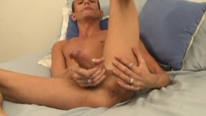 Skinny Guy Cums In His Own Face - Slippery Palm Productions