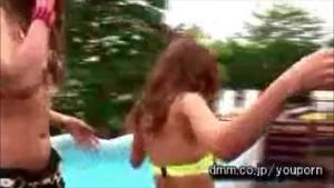 Japanese Girls Poolside Pussy
