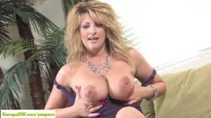 Busty Cougar Lexi Lexxx Masturbating