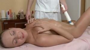 massage vibrator Titted blonde