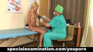 Teen blonde and nasty gynecologist