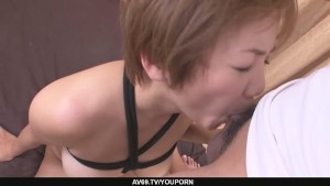 Busty MILF Meguru Kosaka Gets Her Shaved Pussy Creampied