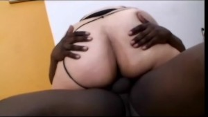 fat babe enjoys a black cock