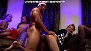 santa claus fuck young female students at a party