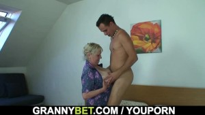 He picks up crazy old woman