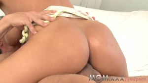 mom brunette milf with monster tits has multiple orgasms