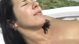 Horny couple suck and fuck by the pool - Telsev