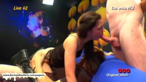 Hot Nicole sucks cock while fucking