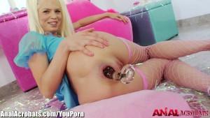 AnalAcrobats Massive Dildo and BBC for Skinny Blonde