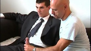 Full video:Guillaume, a suite trouser guy get sucked his huge cock by a guy in spite of him!