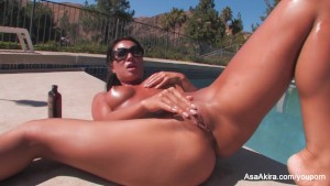 Sexy Asa Akira By The Pool