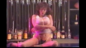 Natural Big Tit Bartender Rips Her Blouse for You