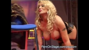 busty strip show in public