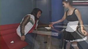 Hot waitress Maria Ozawa blows a cock uncensored.