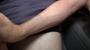She catches him masturbating in car, helps finish him off!