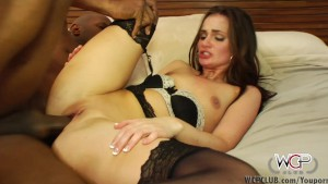 WCPClub Petite girl squirting on a big black cock