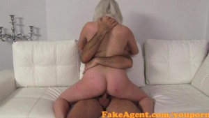 FakeAgent Cute blonde amateur gets huge Facial in Casint