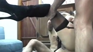 Busty latina spit roasted - Shock Wave