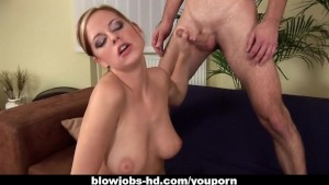 Busty chick Carmen makes that cock explode