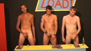 3 gays compare loads - Factory Video