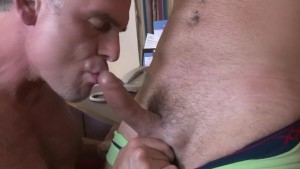 Older guy gets a creampie - Factory Video