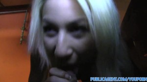 PublicAgent Pretty blonde fucks a big cock in a public car park
