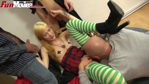 FunMovies German teen fucked by a group of guys