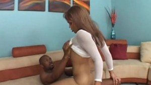 Latina with big tits bounces on bbc - Candy Shop