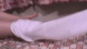 Asian schoolgirl hand stroking