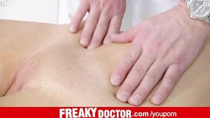 Skilled gyno doctor fingers in skinny teen Silvia