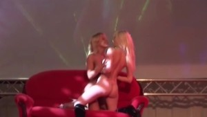 crazy lesbian on public show stage