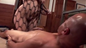 Facesitting and ass licking in a bodystocking