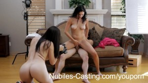 Casting amateur gets a messy facial