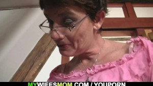 Granny gets a little kinky with him