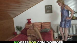 Mother in law finds him horny