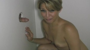Sensual Blonde Slut Sucks Off Strangers in a Glory Hole!