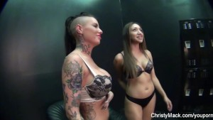 On the porn set with fun with hot chicks and big tits