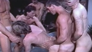 6-Man Orgy from 80 s Gay Porn CABIN FEVER