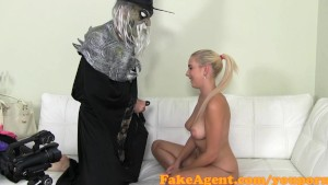 FakeAgent Evil Wizard fucks innocent blonde in Halloween Casting special