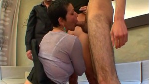 First gangbang for Sophie a French mature