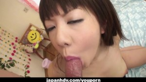 Mesmeric Japanese tart loves being stuffed hard