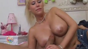 Blonde Gets Her Melons Titty-Fucked - Pink Kitty