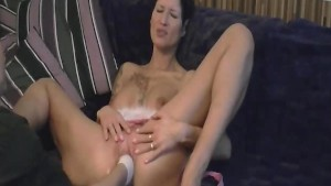 Hot amateur slut fisted in her gaping wrecked cunt