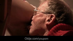 Two old pervert cocks DPs Cherry's young holes