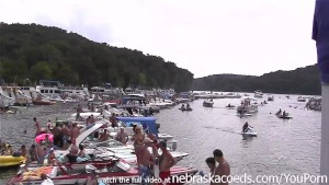 party cove kind of like mardi gras and spring break but on the lake
