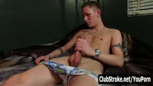 Tattooed Straight Guy Jake Masturbating
