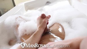 HD ManRoyale - Cute guy has his ass washed and fucked by his twink bf